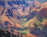 Waimea Canyon, Sunlight and Cloud Shadows